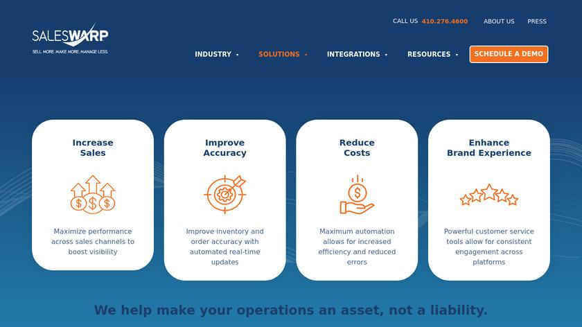 SalesWarp Landing Page