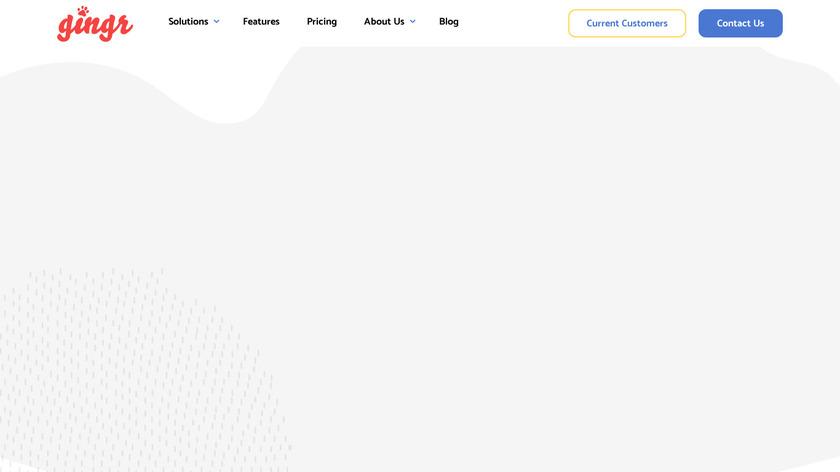 Gingr Landing Page