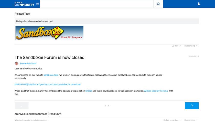 Sandboxie Landing Page