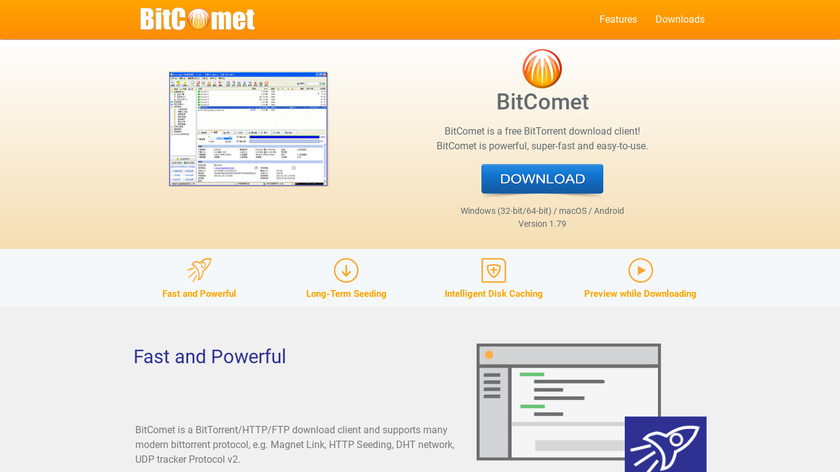 BitComet Landing Page