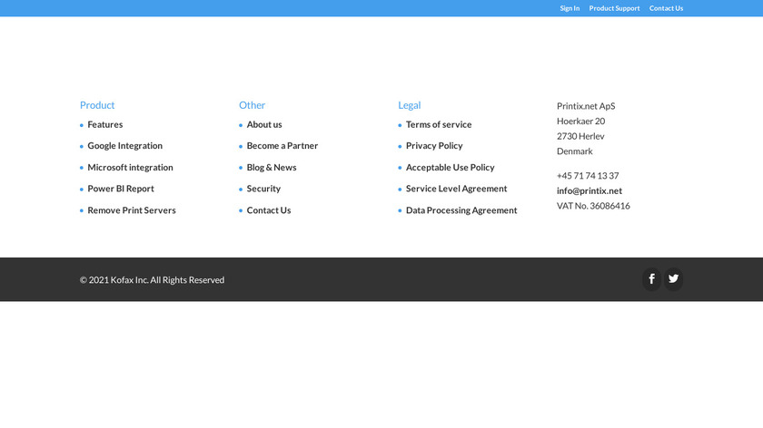 Printix Landing Page