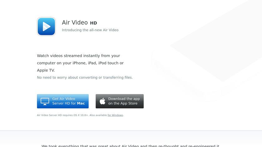 Air Video HD Landing Page