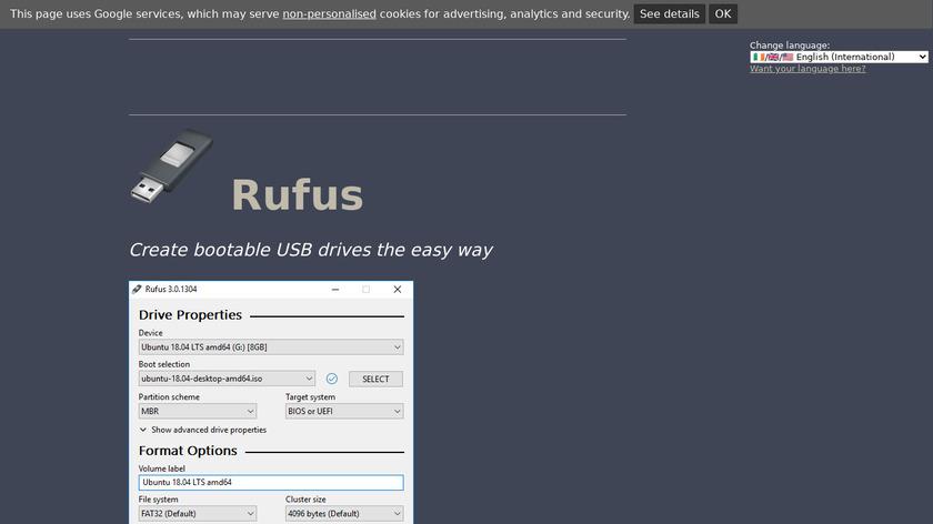Rufus Landing Page