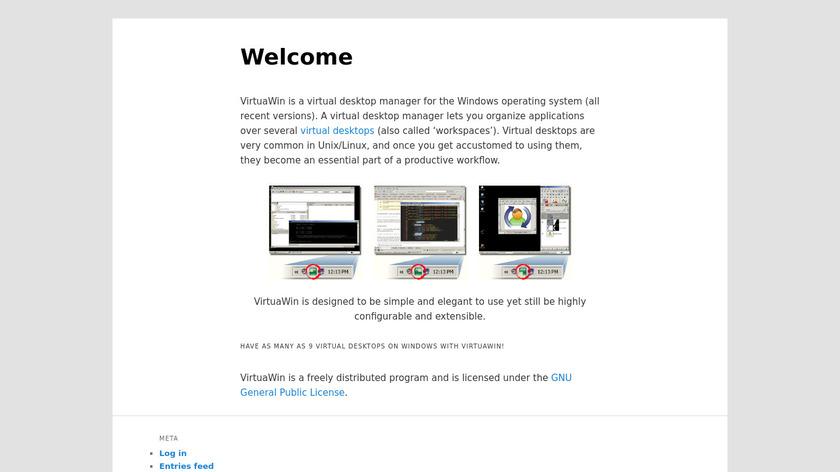 VirtuaWin Landing Page