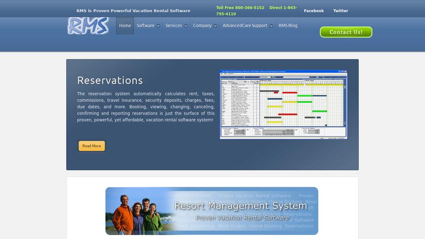 Resort Management System Landing Page