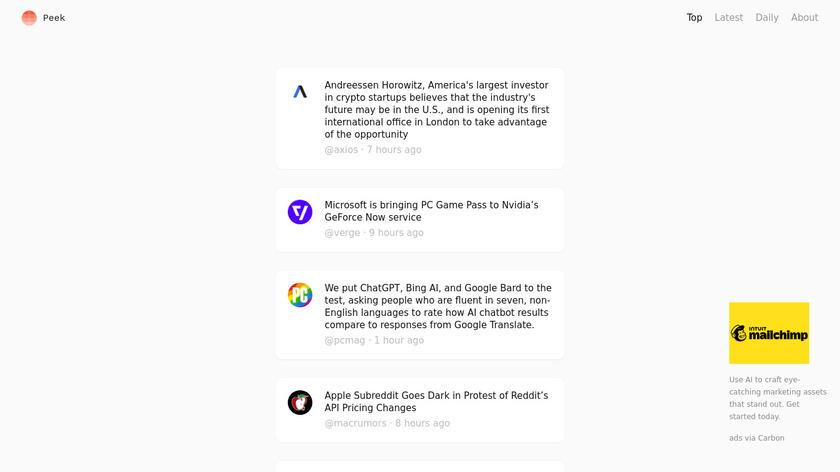 Morning Reader Mobile Landing Page