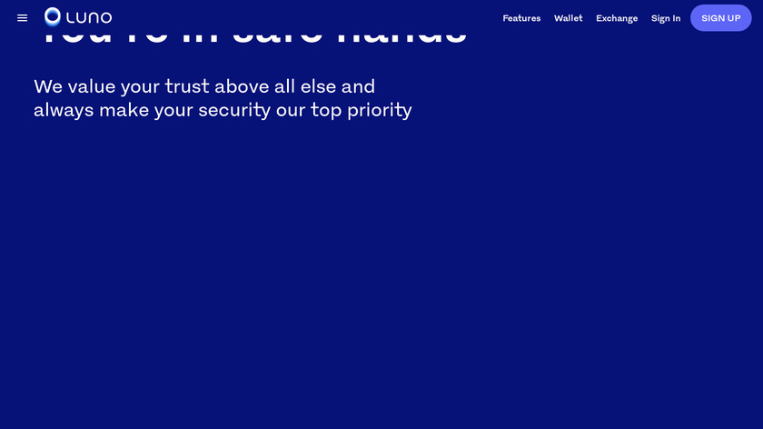 Luno Landing Page