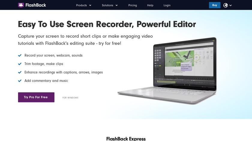 FlashBack Express Landing Page