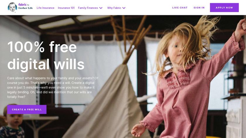 Fabric Wills Landing Page