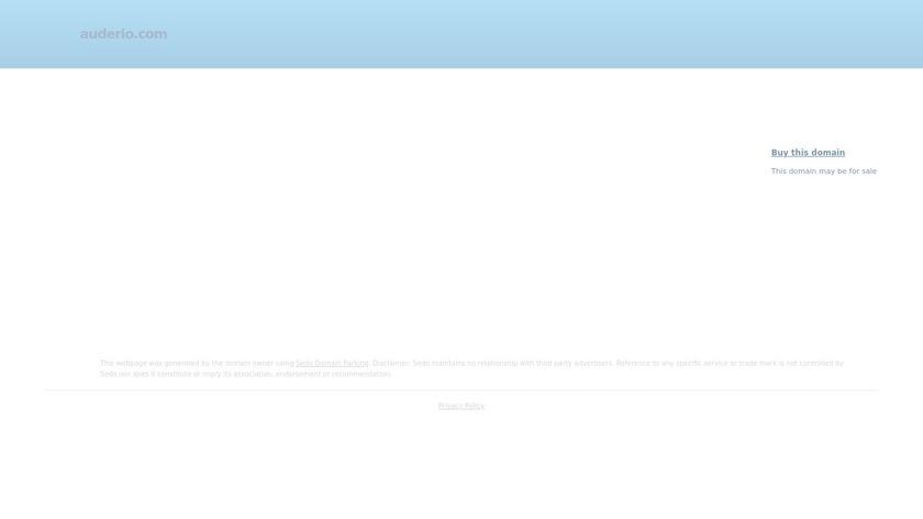 Auderio Landing Page