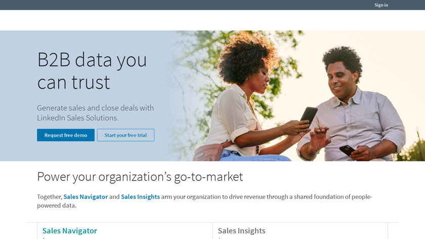 LinkedIn Sales Navigator for Gmail Landing Page