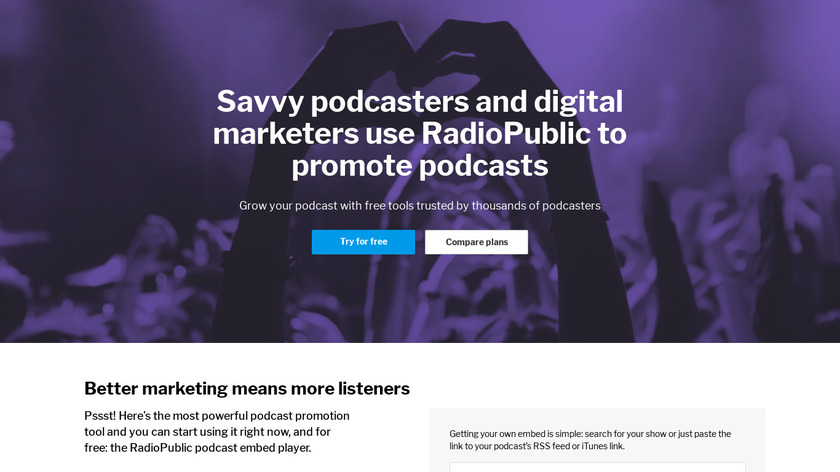 RadioPublic PRO Landing Page