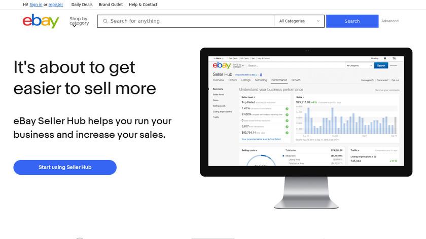eBay Seller Hub Landing Page