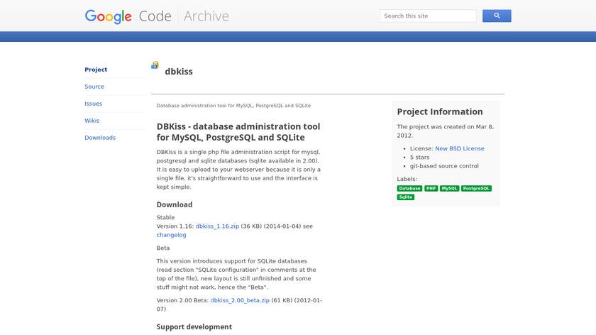 DBKiss Landing Page