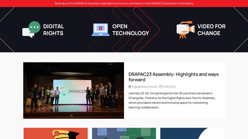 EngageMedia Landing Page