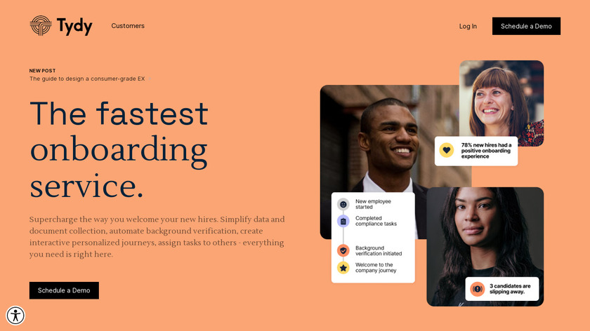 Tydy Landing Page