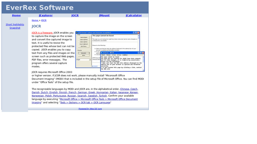 JOCR Landing Page