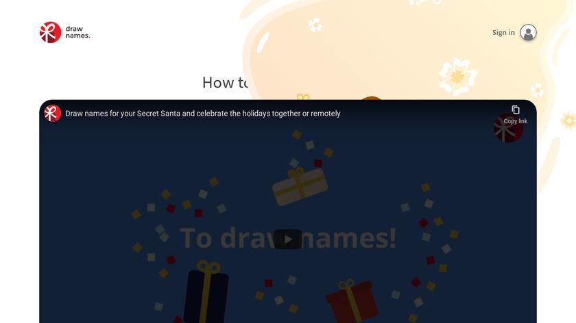 DrawNames Landing Page