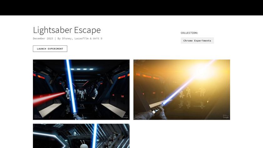 Lightsaber Escape Landing Page