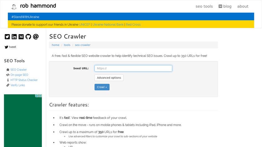 SEO Crawler Landing Page
