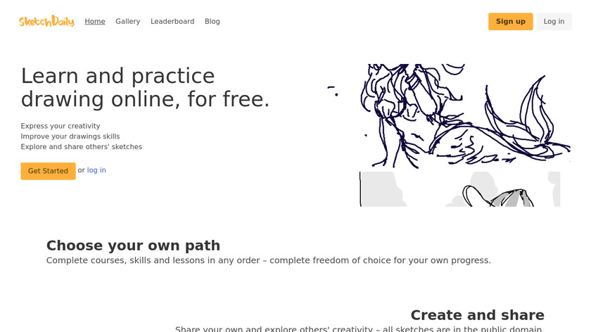 SketchDaily.io Landing Page