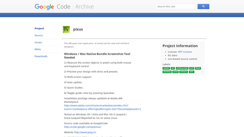 Pixus Landing Page