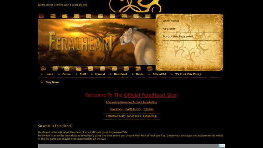FeralHeart Landing Page