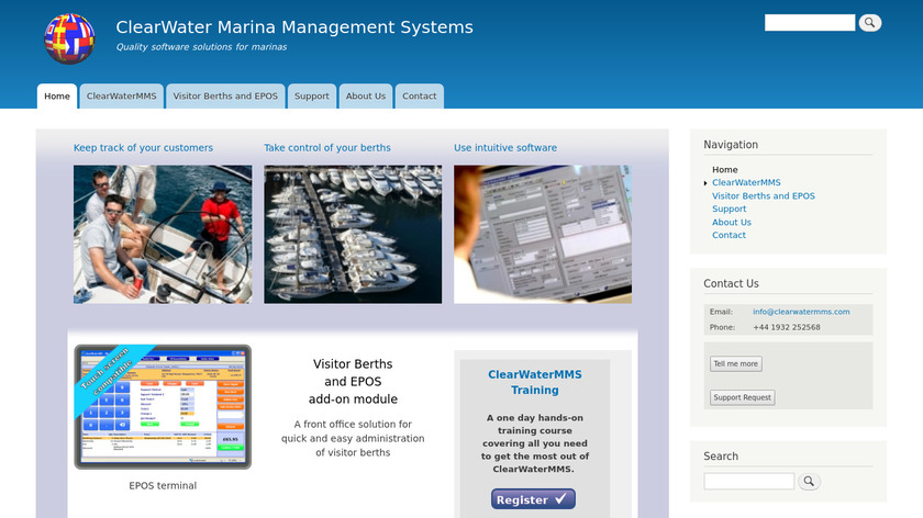 ClearWaterMMS Landing Page