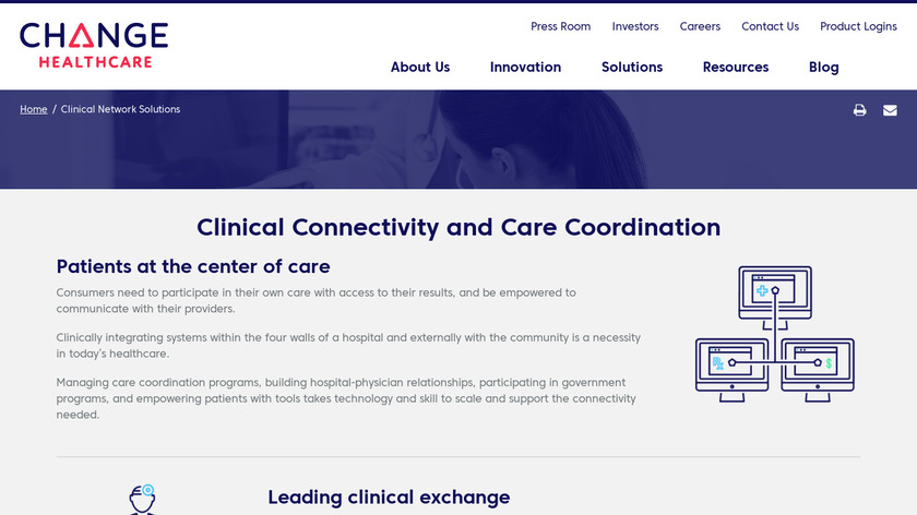 Change Healthcare Clinical Network Solutions Landing Page