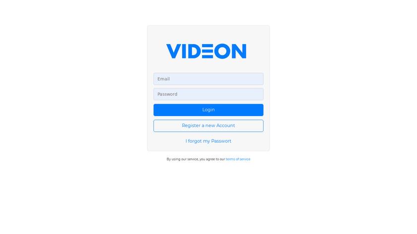 Videon Digital Signage Landing Page