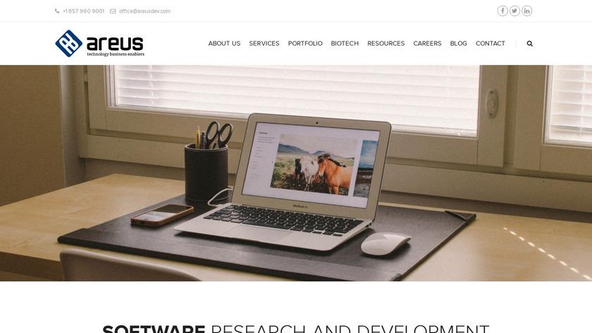 Areus Development Landing Page