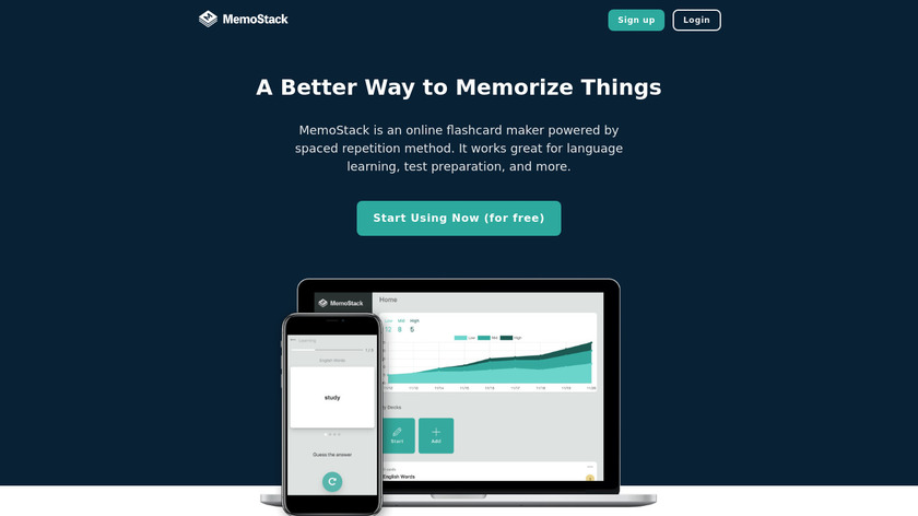 MemoStack Landing Page