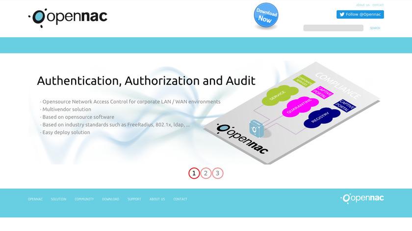 openNAC Landing Page