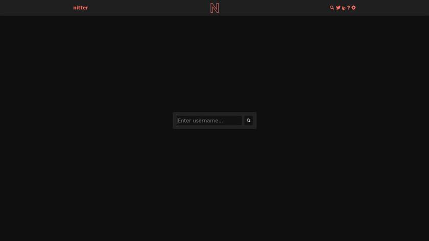 Nitter Landing Page