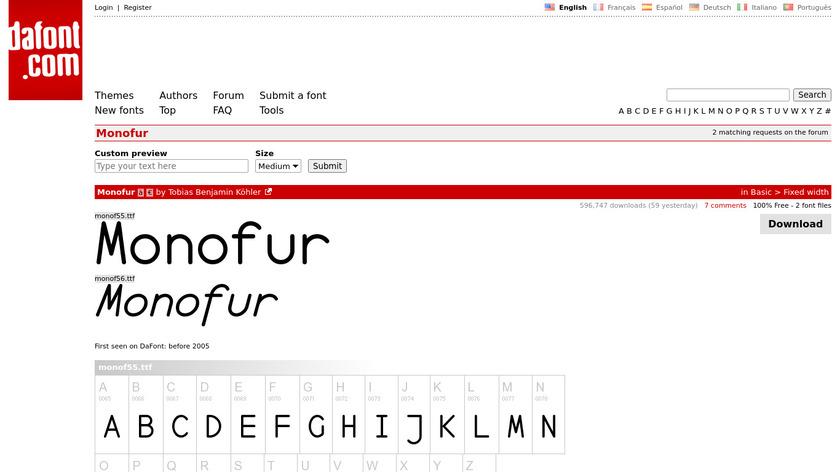 Monofur Landing Page