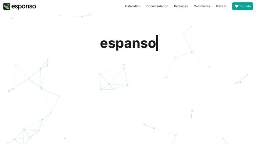 espanso Landing Page