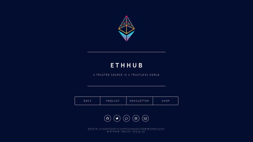 EthHub Landing Page