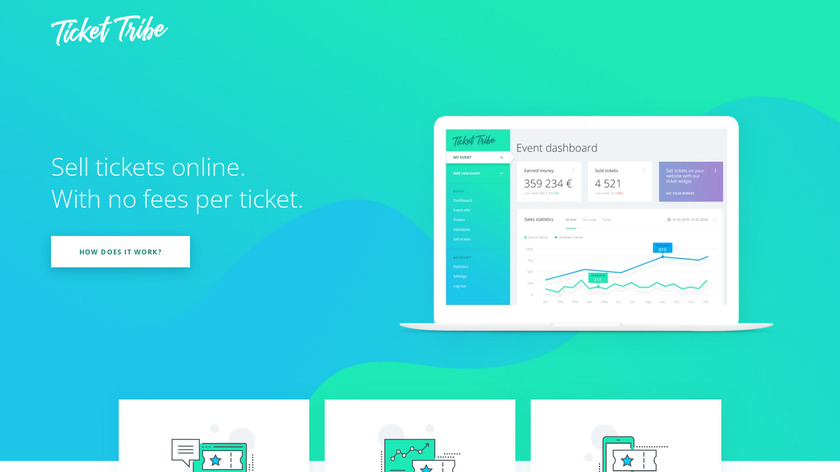 Ticket Tribe Landing Page