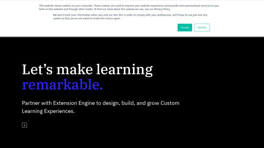 ExtensionEngine Landing Page