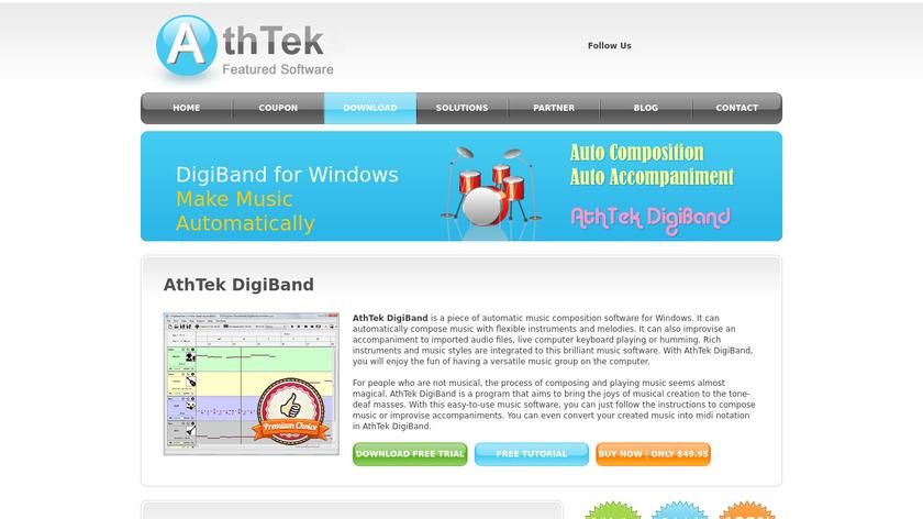 AthTek DigiBand Landing Page