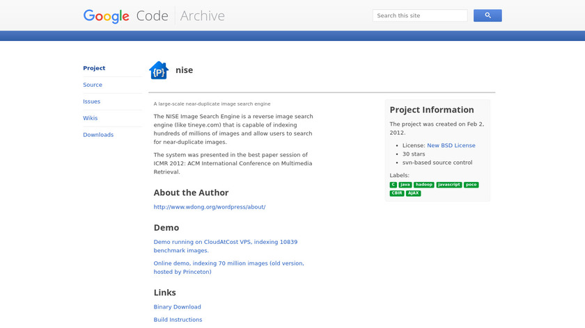 NISE Landing Page