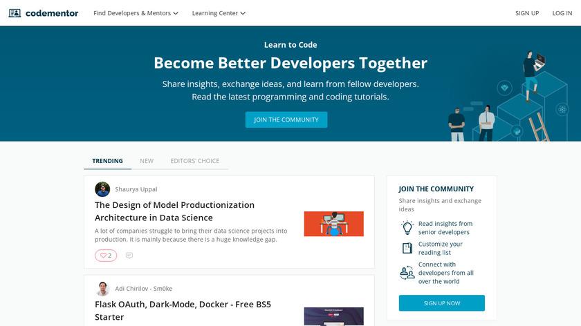 Codementor Community Landing Page