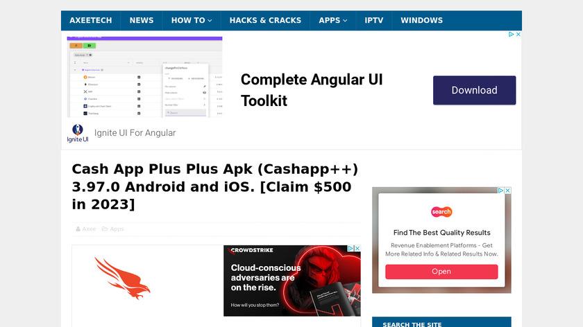 Cashout Landing Page
