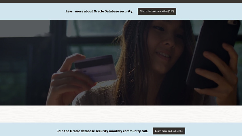 Oracle Advanced Security Landing Page