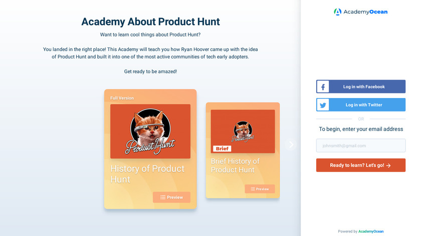 History of Product Hunt Landing Page