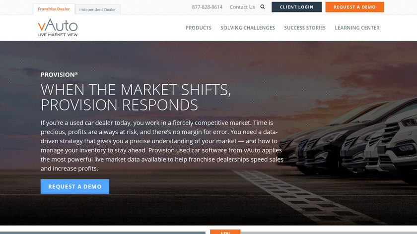vAuto Provision Landing Page