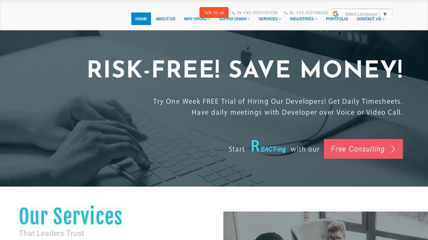 ReactJS Development Services Landing Page