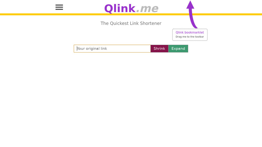 Qlink.me Landing Page