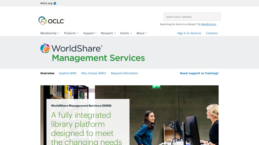 WorldShare Management Services Landing Page