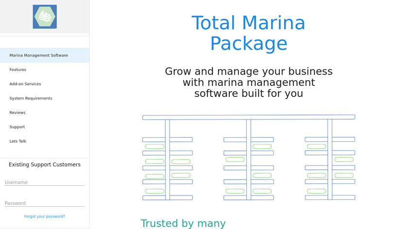 Total Marina Package Landing Page